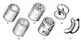 Кольца с крестообразной перегородкой